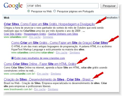 criar sites no Google