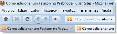 Favicon no navegador de internet