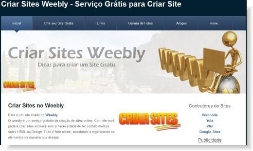 criar sites weebly