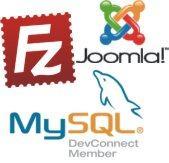 FileZilla MySQL e Joomla
