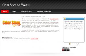 Criar Sites no Yola - Dicas de Uso