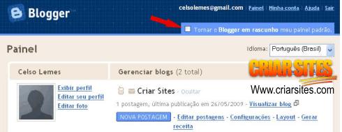 Blogger em Rascunho