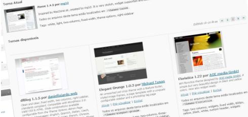 Gerenciar temas ‹ Criar Sites na Zooming — WordPress