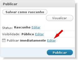 Alterar data de publicação