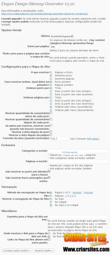 Dagon Design Sitemap Generator ‹ Criar Sites — WordPress