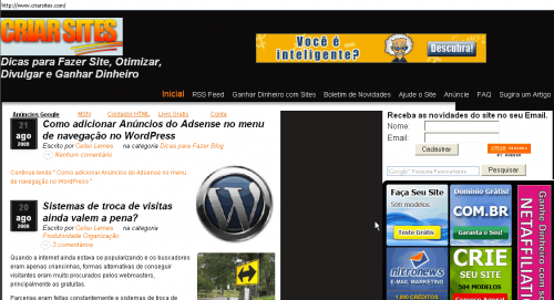 criar sites layout torto