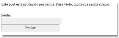 senha no WordPress