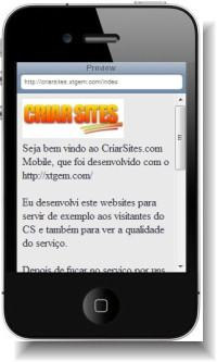 criar sites móvel iphone
