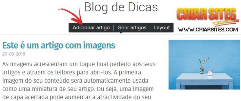 Como escrever artigos no Blog Webnode