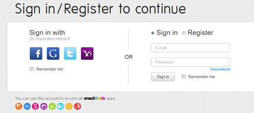 Registrar no flipsnack