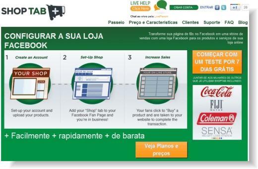Shop Tab - Aplicativo de loja virtual par ao Facebook