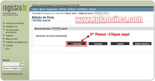 como configurar domínio no registro br 2