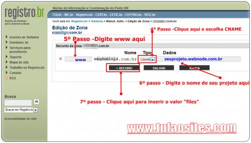como configurar domínio no registro br 3