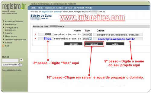 como configurar domínio no registro br4
