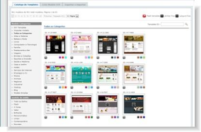 layouts do construtor de sites