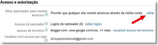 painel do google adsense