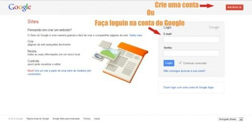 Google sites increva-se