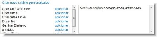 criterios personalizados no Google Adsense