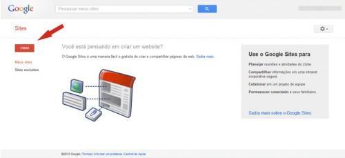 google sites criar site