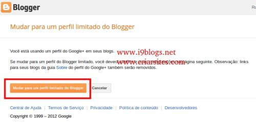 Reverter Perfil para o Blogger 1