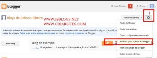 Reverter Perfil para o Blogger