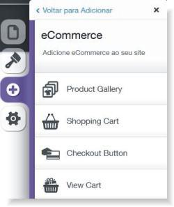 recursos da loja virtual do wix