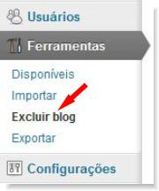 excluir blog no wordPress.com