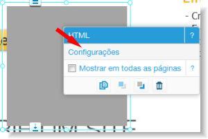 configurações do app html