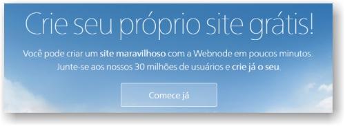 Comece já o seu site grátis no Webnode