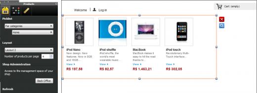 configurar loja virtual no webacappella