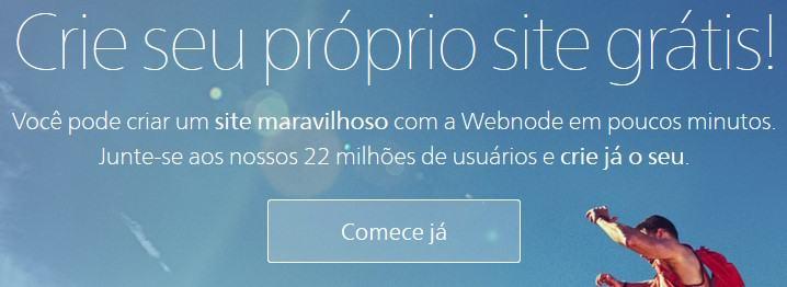 Crie seu próprio site grátis no Webnode