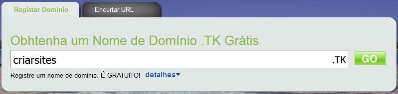 Domínio Grátis TK