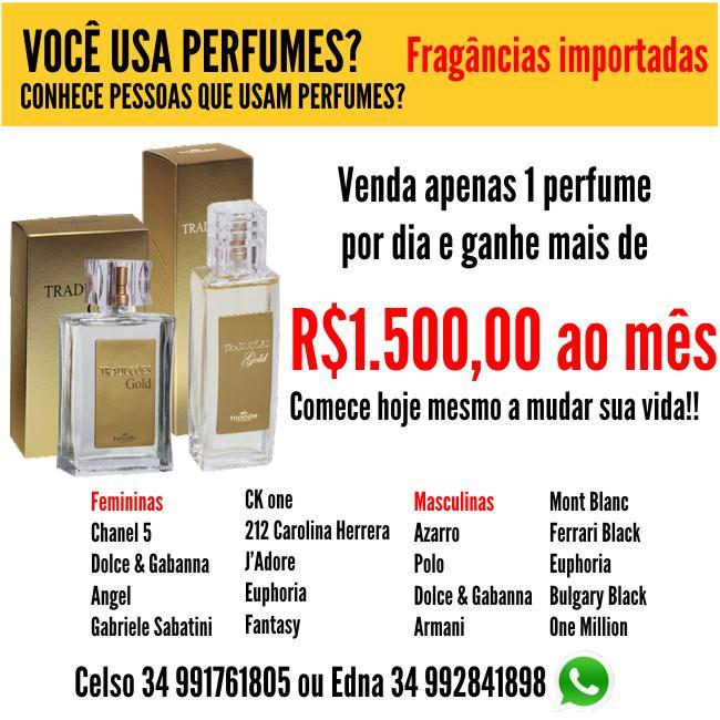 Venda apenas 1 perfume Hinode e Ganhe mais de R$1.500 por mês