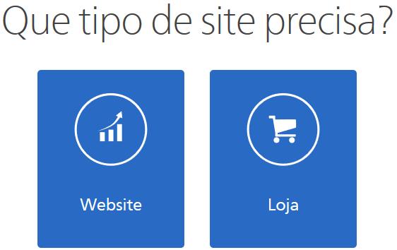 Que tipo de site você precisa no Webnode