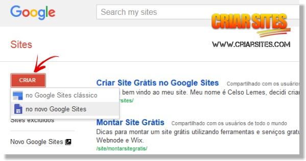 Como criar um site grátis no Google