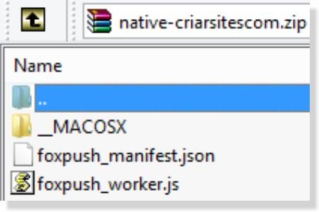 arquivos fox push
