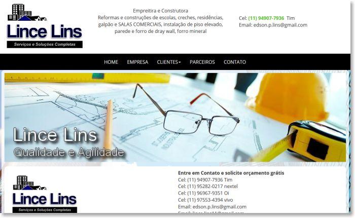 Lince Lins - Construtora e Empreiteira
